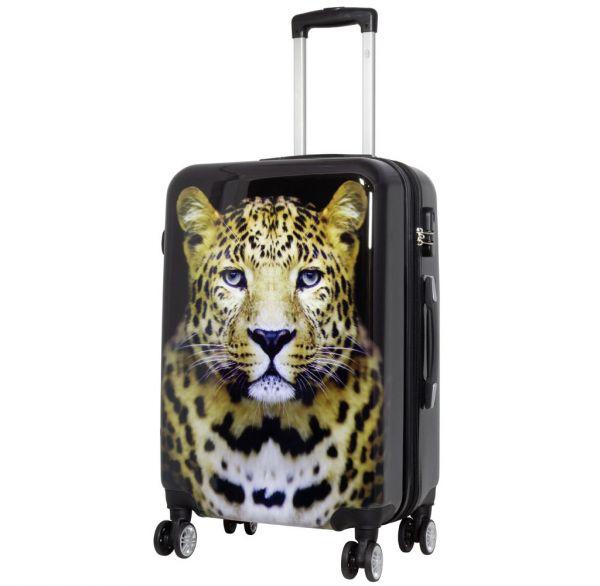 Polycarbonat Citykoffer Größe M - Leopard