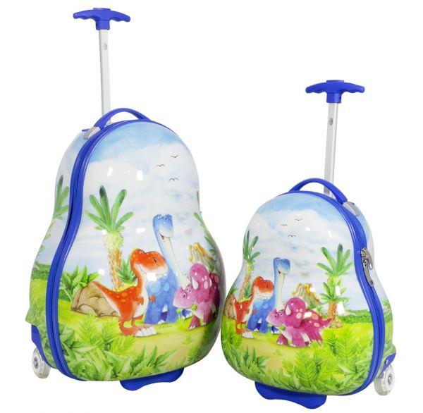 Kinder Koffer und Kofferset 2tlg Dino