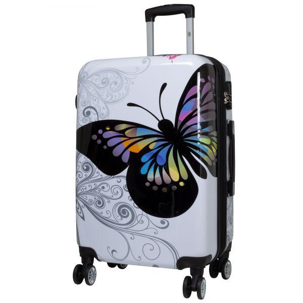 Polycarbonat Citykoffer Größe M - Butterfly