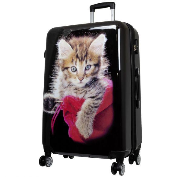 Polycarbonat Reisekoffer Größe L - Katze