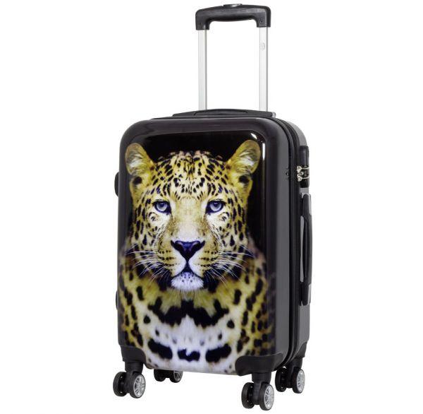 Polycarbonat-Koffer Leopard Größe S