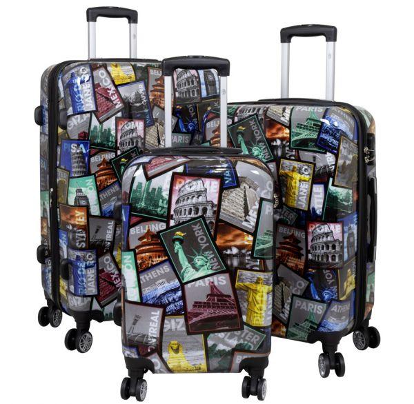 Polycarbonat Koffer- und Kofferset 3tlg City