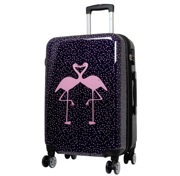 Polycarbonat Reisekoffer Größe L - Flamingo