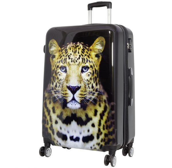 Polycarbonat Reisekoffer Größe L - Leopard