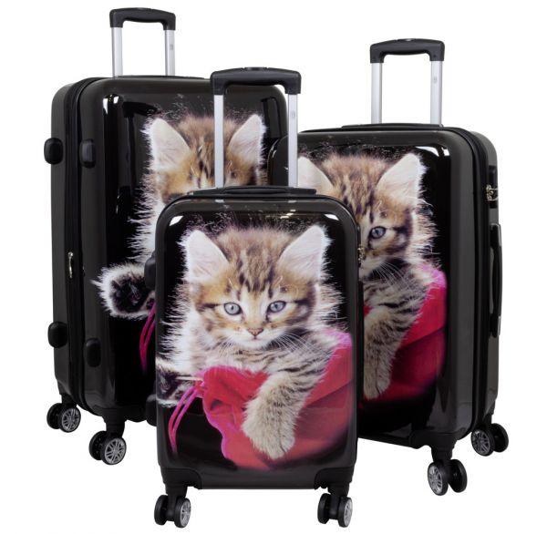 Polycarbonat-Koffer & Kofferset Katze