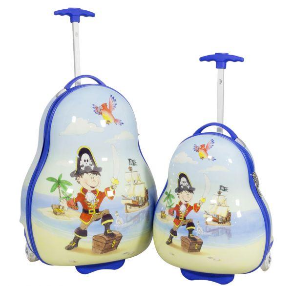 Kinder Koffer und Kofferset 2tlg Pirat