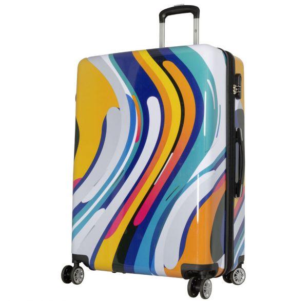 Polycarbonat Reisekoffer Größe L - Wellen-Design