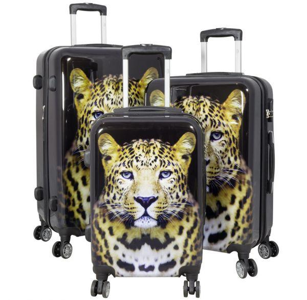 Polycarbonat-Koffer und Kofferset Leopard