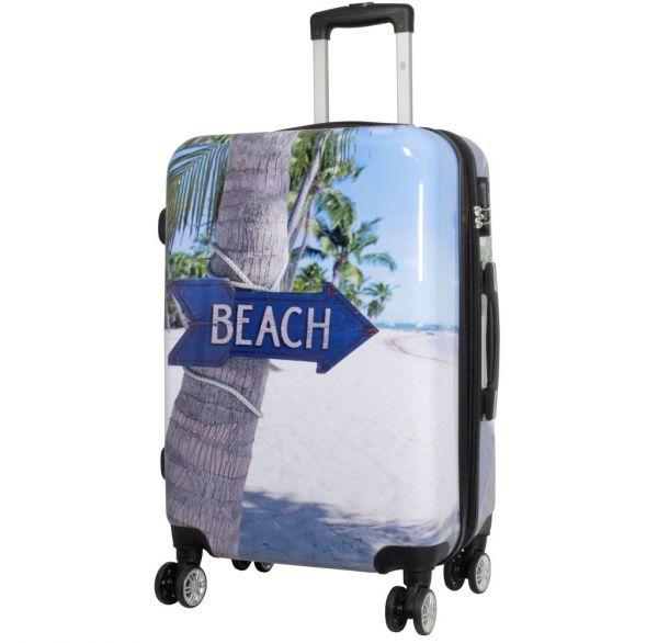 Polycarbonat Citykoffer Größe M - Beach