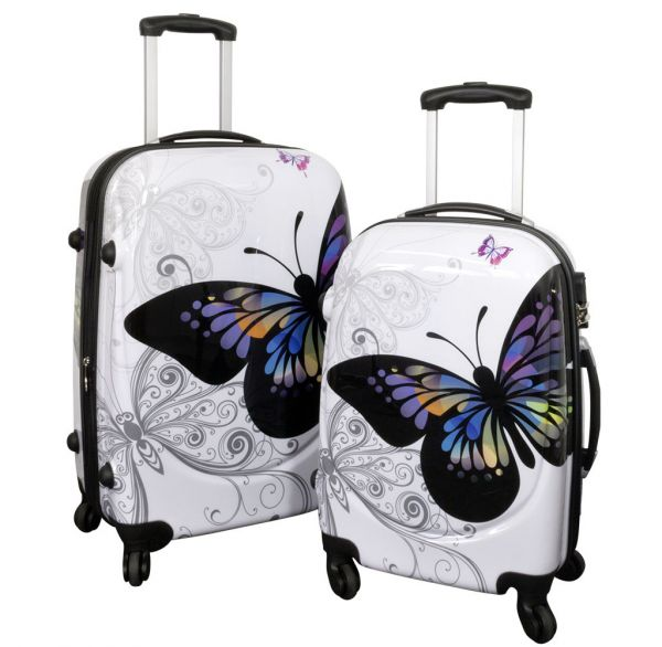 Polycarbonat Kofferset 2tlg Butterfly