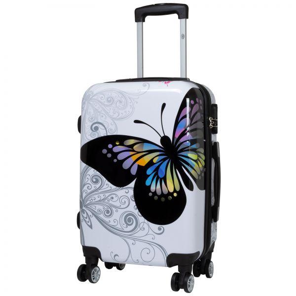 Polycarbonat Koffer Butterfly Größe S