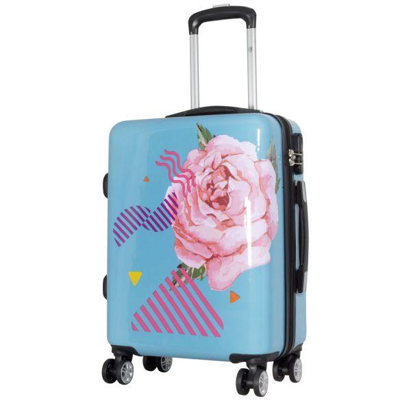 Polycarbonat-Koffer Rose Größe S