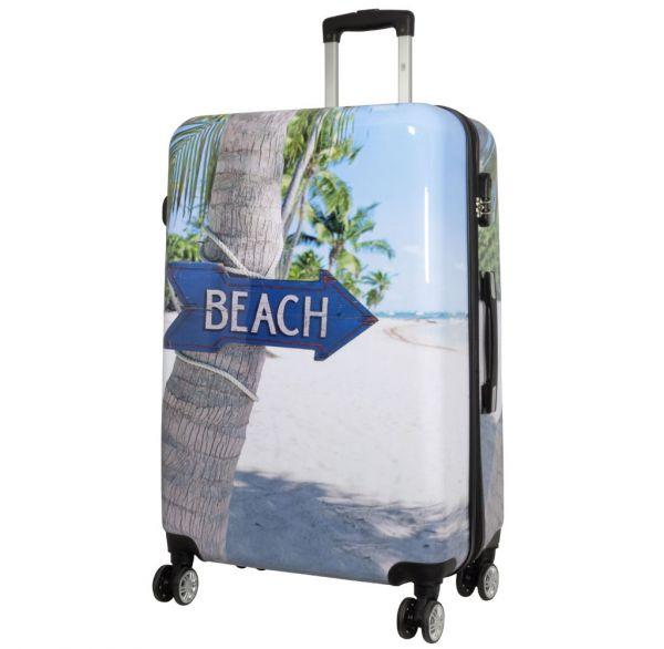Polycarbonat Reisekoffer Größe L - Beach